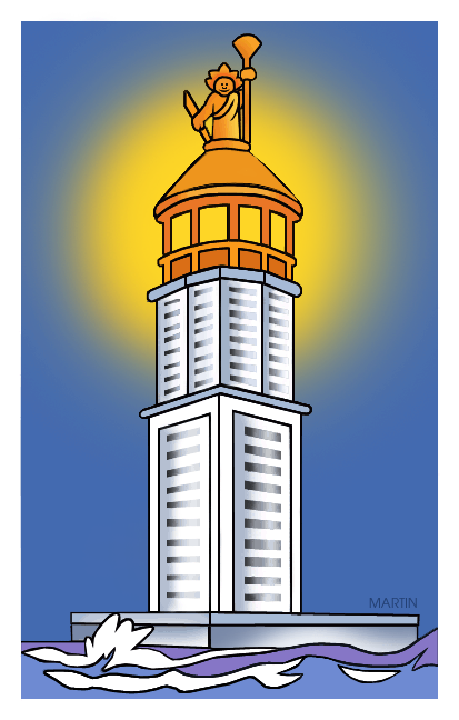 Seven Wonders Of The Ancient World Clip Art By Phillip Martin